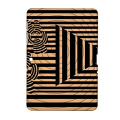 Wooden Pause Play Paws Abstract Oparton Line Roulette Spin Samsung Galaxy Tab 2 (10.1 ) P5100 Hardshell Case
