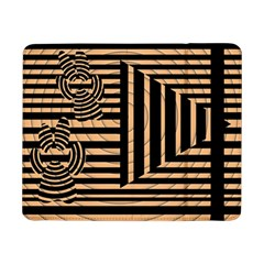Wooden Pause Play Paws Abstract Oparton Line Roulette Spin Samsung Galaxy Tab Pro 8.4  Flip Case
