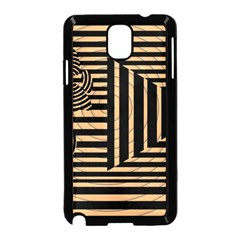 Wooden Pause Play Paws Abstract Oparton Line Roulette Spin Samsung Galaxy Note 3 Neo Hardshell Case (Black)