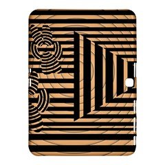 Wooden Pause Play Paws Abstract Oparton Line Roulette Spin Samsung Galaxy Tab 4 (10.1 ) Hardshell Case