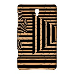Wooden Pause Play Paws Abstract Oparton Line Roulette Spin Samsung Galaxy Tab S (8.4 ) Hardshell Case