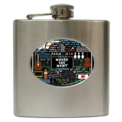 Book Quote Collage Hip Flask (6 oz)