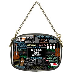 Book Quote Collage Chain Purses (One Side)