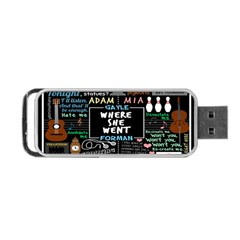 Book Quote Collage Portable USB Flash (Two Sides)