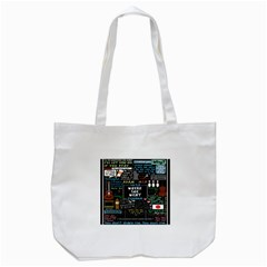 Book Quote Collage Tote Bag (White)
