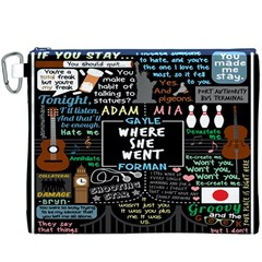 Book Quote Collage Canvas Cosmetic Bag (XXXL)