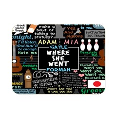 Book Quote Collage Double Sided Flano Blanket (Mini)