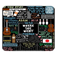 Book Quote Collage Double Sided Flano Blanket (Small)