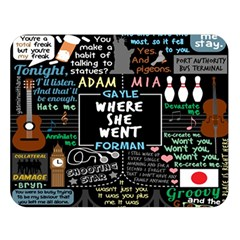 Book Quote Collage Double Sided Flano Blanket (Large)