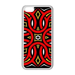 Traditional Art Pattern Apple iPhone 5C Seamless Case (White)