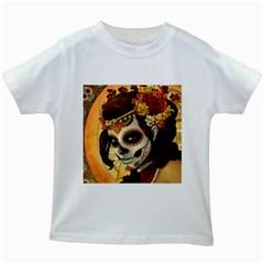 Fantasy Girl Art Kids White T-Shirts