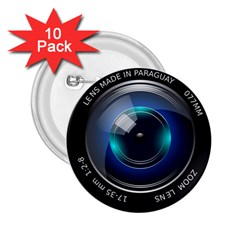 Camera Lens Prime Photography 2.25  Buttons (10 pack)