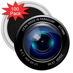Camera Lens Prime Photography 3  Magnets (100 pack)