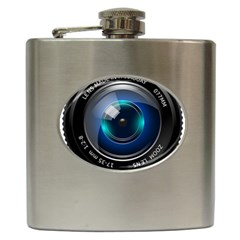 Camera Lens Prime Photography Hip Flask (6 oz)