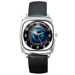 Camera Lens Prime Photography Square Metal Watch