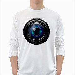 Camera Lens Prime Photography White Long Sleeve T-Shirts