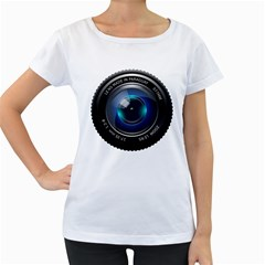 Camera Lens Prime Photography Women s Loose-Fit T-Shirt (White)