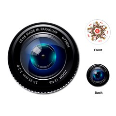 Camera Lens Prime Photography Playing Cards (Round)