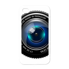 Camera Lens Prime Photography Apple iPhone 4 Case (White)