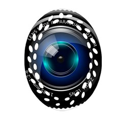 Camera Lens Prime Photography Oval Filigree Ornament (Two Sides)