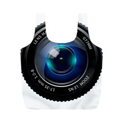 Camera Lens Prime Photography Full Print Recycle Bags (M)