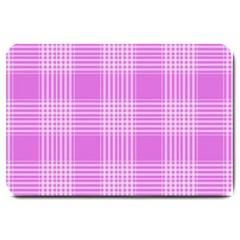 Seamless Tartan Pattern Large Doormat