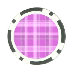 Seamless Tartan Pattern Poker Chip Card Guard