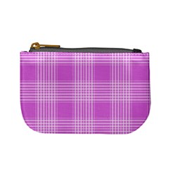 Seamless Tartan Pattern Mini Coin Purses