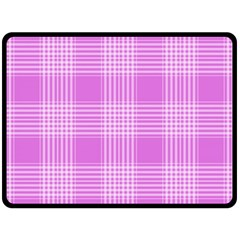 Seamless Tartan Pattern Fleece Blanket (Large)
