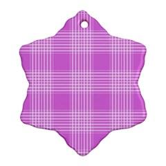 Seamless Tartan Pattern Snowflake Ornament (Two Sides)