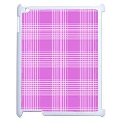Seamless Tartan Pattern Apple iPad 2 Case (White)