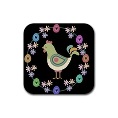 Easter Rubber Square Coaster (4 pack)