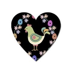 Easter Heart Magnet