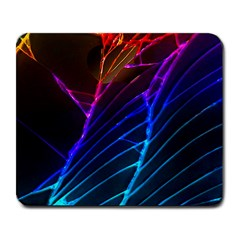 Cracked Out Broken Glass Large Mousepads