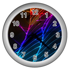 Cracked Out Broken Glass Wall Clocks (Silver)