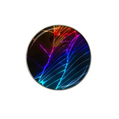 Cracked Out Broken Glass Hat Clip Ball Marker