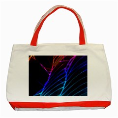 Cracked Out Broken Glass Classic Tote Bag (Red)