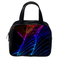 Cracked Out Broken Glass Classic Handbags (One Side)
