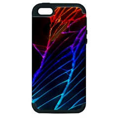 Cracked Out Broken Glass Apple iPhone 5 Hardshell Case (PC+Silicone)