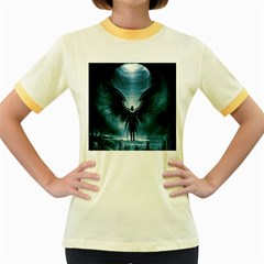 Rising Angel Fantasy Women s Fitted Ringer T-Shirts