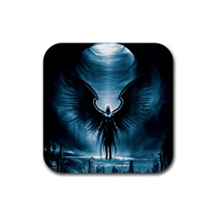 Rising Angel Fantasy Rubber Square Coaster (4 pack)