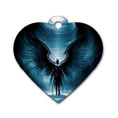 Rising Angel Fantasy Dog Tag Heart (Two Sides)