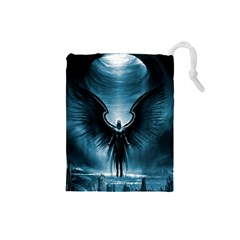 Rising Angel Fantasy Drawstring Pouches (Small)