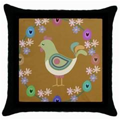 Easter Throw Pillow Case (Black)
