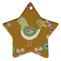 Easter Star Ornament (Two Sides)