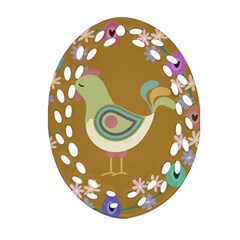 Easter Ornament (oval Filigree)