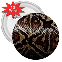 Snake Skin Olay 3  Buttons (10 pack)