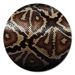 Snake Skin Olay Magnet 5  (Round)