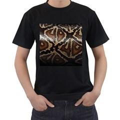 Snake Skin Olay Men s T-Shirt (Black)