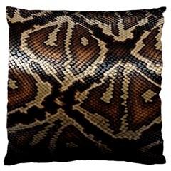 Snake Skin Olay Large Flano Cushion Case (One Side)